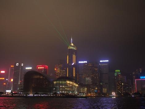 Laser Display. Victoria Harbour